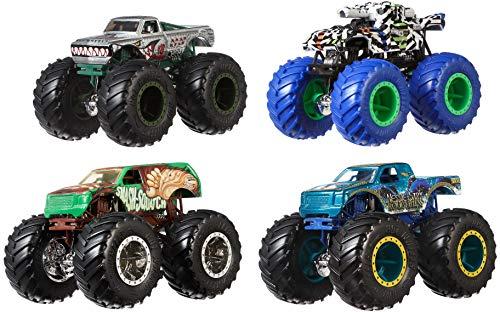 Hot Wheels Monster TRUCKSS 1:64 4-Pack AST Vehicles