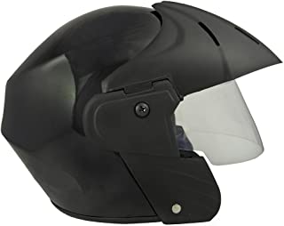 Benz Power (ISI Certified) Open Face Helmet (Black Glossy) (Large (L))