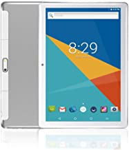 MoZhu Android Tablet 10 Inch, Tablets PC 10.1,HD,3G, WiFi, GPS, Octa Core, 64GB ROM,4GB RAM, Dual Sim Card, 1920×1200 IPS,New, (Silver)