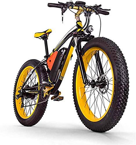 Alta velocidad 1000W Montaña bicicleta eléctrica 26 pulgadas 48V16AH Fat Tire Bicicleta eléctrica / 27 Velocidad de nieve bicicletas, faros LED, varón adulto Off-Road de bicicletas de montaña