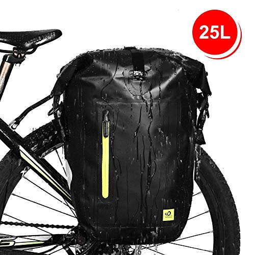 Waterfly Fietstas, 25 liter, waterdichte bagagedragertas, achterwieltas