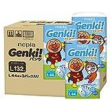 【パンツ Lサイズ】ネピアGENKI アンパンマン おむつ (9~14kg)132枚(44枚×3) ケース品