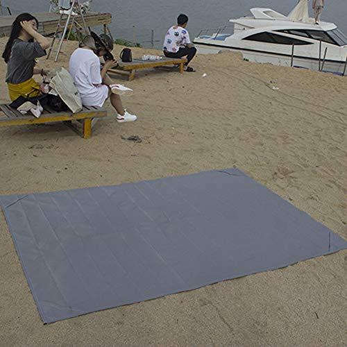 topxingch Alfombra De Playa Manta De Picnic Impermeable Al Aire Libre para Viajes, Acampada Y Senderismo - Portátil De Secado Rápido Resistente Al Agua Gris El 145 * 200cm