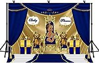 HD 7x5ftゴールデン玉座背景王女の誕生日パーティーの写真の背景のベビーシャワーの写真の小道具LYZY0624の王子様の背景