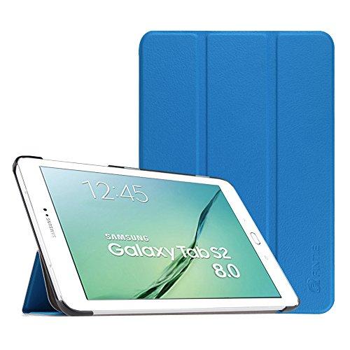 Fintie Hülle für Samsung Galaxy Tab S2 8.0 T710 / T713/ T715 / T719 (8 Zoll) Tablet-PC - Ultra Schlank Superleicht Ständer SlimShell Cover Schutzhülle mit Auto Schlaf/Wach Funktion, Königsblau