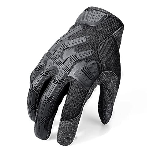 JCYANG Guantes Moto Motocicleta Guantes de Dedo Completo Motocross Pit Biker Ciclismo Motorbike Racing Protective Gear Moto Glove Hombres (Color : B39 Black, Size : M)