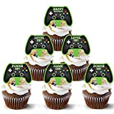 Video Game Controller Cake Topper 48 Count - Gamer Cake Topper Decoration   Video Game Cupcake Topper Supply   Game Controller Cupcake Toppers Design   Game Controller Cake Topper Theme By Pretty Cute Studios