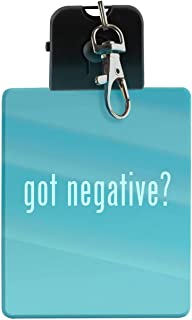 got negative? - LED Key Chain with Easy Clasp