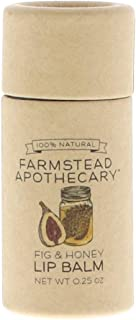 Farmstead Apothecary 100% Natural Lip Balm with Organic Beeswax, Organic Shea Butter & Organic Coconut Oil, Fig & Honey 0.25 oz