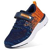 Zapatillas de Deporte para Niños Zapatillas de Correr Zapatos para Caminar al Aire Libre(YF64-Naranja 34EU)