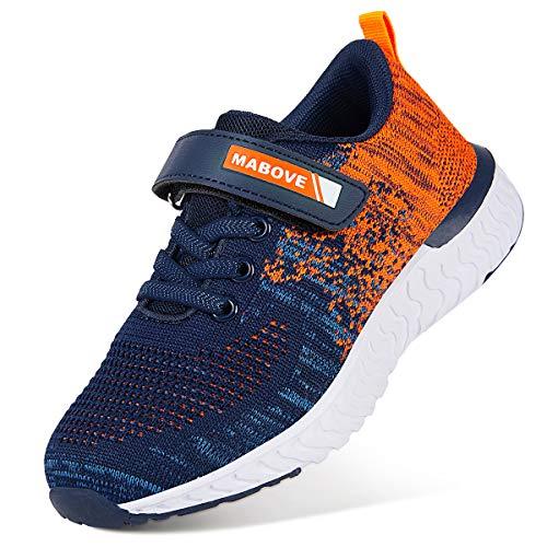 Zapatillas de Deporte para Niños Zapatillas de Correr Zapatos para Caminar al Aire Libre(YF64-Naranja 35EU)