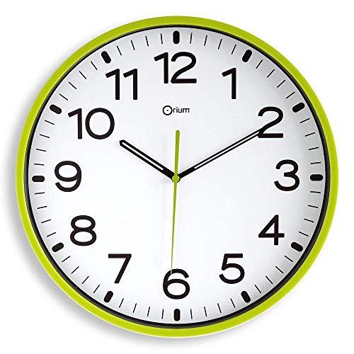Orium Wanduhr lautlos 11679, Durchmesser 30 cm, Grün 2116790141