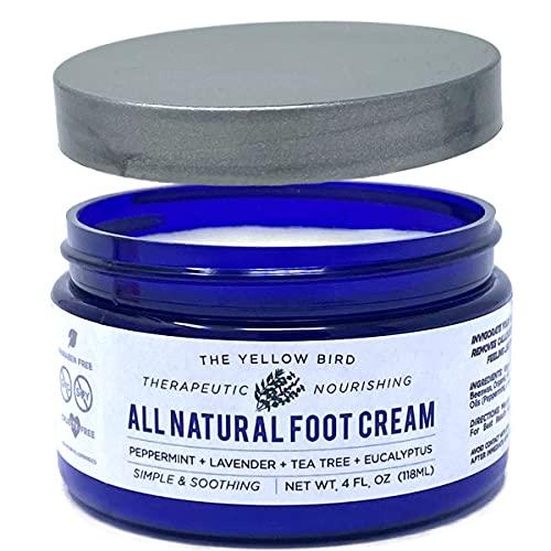 The Yellow Bird Natural Foot Cream - Dry Feet Balm , Cracked Heel Moisturizer, Organic Athletes Foot Repair...