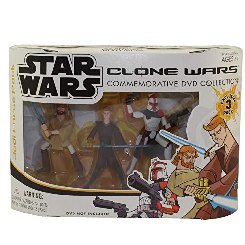 Hasbro Star Wars Conmemorative DVD Collection (DVD no incluido) ARC Trooper, OBI-Wan Kenobi, Anakin Skywalker