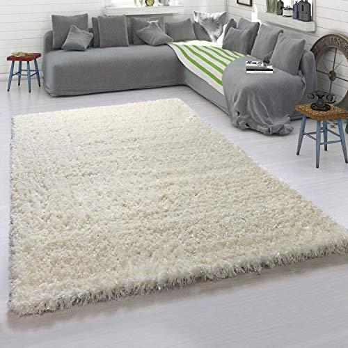 Paco Home Hochflor-Teppich, Kuschelig Weicher Flokati-Teppich, Einfarbig In Beige Creme, Grösse:80x150 cm