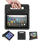 Blosomeet EVA Case Compatible with Fire HD 8 and HD 8 Plus 10th Generation 2020 Release, Lightweight Shockproof Rugged Protective Tablet Cover with Handle for Kids, Black.