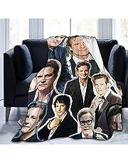 Colin Firth gåvor för kvinnor överkast filtar baby varm, för soffa, säng, vardagsrum, hållbar heminredning flanellfilt för vuxna och barn 203 x 152 cm