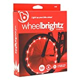 Wheelbrightz LED Bike Wheel Lights, Red – Pack of 1 Light for Front or Back Tire – Bright Colorful Light for Bicycles – Have Fun – Be Seen – Weather Resistant Tube with Battery Pack