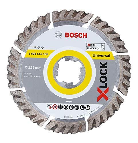 Bosch Professional Diamanttrennscheibe Standard (Universal, X-LOCK, Ø125 mm, BohrungsØ: 22,23 mm, Schnittbreite 2 mm)