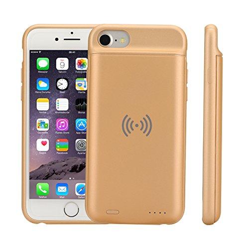 iPhone 6/6S/7/8Carcasa de batería, 3000mAh batería Externa Caso portátil Recargable de protección Banco de alimentación de Copia de Seguridad Batería Pack Dorado