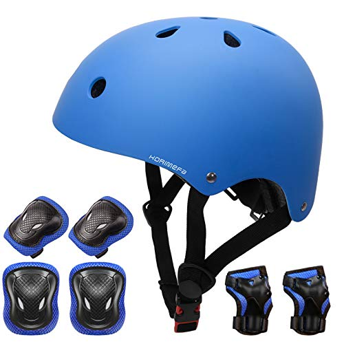 KORIMEFA Casque Vélo Enfant Set de Protection Roller pour Enfants Filles Garçons 3-13 Ans Casque...