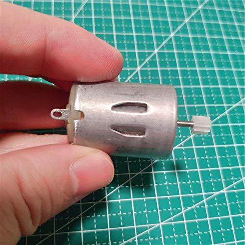 Wusfeng LHongBin-Motor Gleichstrom 1Set R280 DC Motor, 8000 RPM DIY Modell Spielzeuglüfter Tand Hubschrauber Bootsteile, 102A Wellentriegel Micro Mini 3V-9V, Breites Anwendungsspektrum