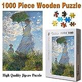 Puzzles Adultos 1000 Piezas Rompecabezas Mujeres Con Sombrilla Claude Monet Famous Art Painting Puzzle Decoración Rompecabezas Educativos Juegos De Bricolaje Brain Challenge Puzzle Sets
