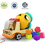 TOP BRIGHT Wooden Shape Sorter Toys for...