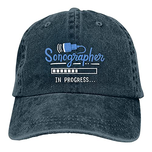 Gymini Sonographer Sonography Student Ajustable Baseball Caps Denim Sombreros Retro Sombrero De Vaquero Gorra