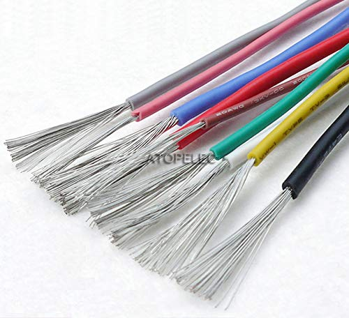 UL3239 3000V Soft Silicone Wire 200Deg.C Tinned Copper Flexible Cable UL 14/15/16/18/20/22/24/26/28/30 AWG Black/Red/Green/Blue Red 26AWG