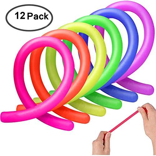 AMEITECH Bunte sensorische Fidget Stretch Spielzeug hilft reduzieren Zappeln durch Stress und Angst für ADD, ADHS, Autismus (12 Pack)
