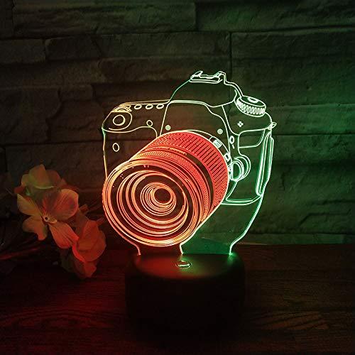 Gepersonaliseerde jongens nachtlampje voor kinderen/baby - kerstcadeaus voor kinderen - 7 kleuren en een kleur veranderende instelling camera visuele sfeer Gift Light