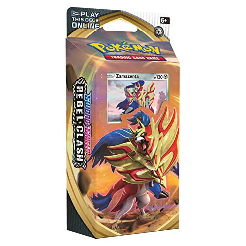 Pokemon TCG: Sword & Shield 2 Rebel Clash Theme Deck - Zamazaenta | 15 Powerful Pokémon V | 7 Enormous Pokémon VMAX | Genuine Cards, Multicolor