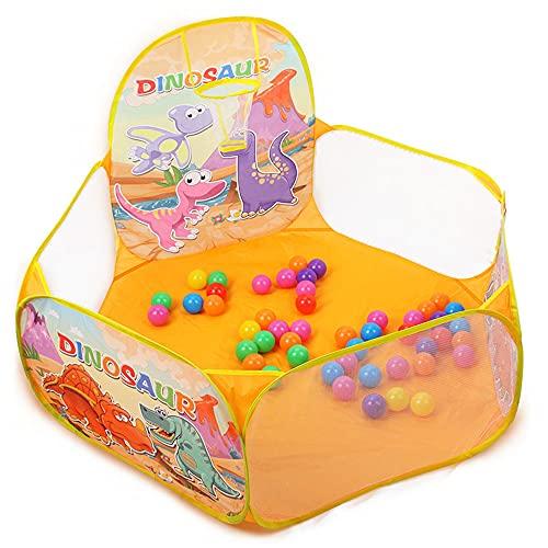 LIALIYA Pozo de Pelota para niños pequeños, bebés Pop Up Play Tent Kids Ball Pits Playhouse con aro de Baloncesto, Regalo para niños niñas cumpleaños Navidad