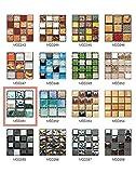 50 Pezzi 3D Adesivi per Piastrelle Mosaico Mattonelle Sticker Autoadesivo Mattonelle Parete PVC Impermeabile per Bagno Cucina Piastrelle Wall Stickers (10*10CM*50pcs, MSCO51)