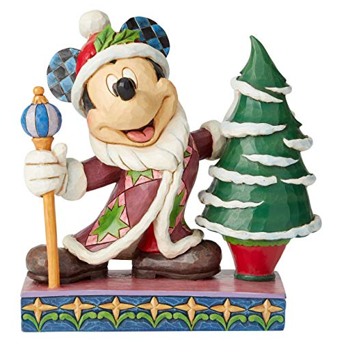 Disney Traditions, Figura de Mickey Mouse en Navidad, Enesco