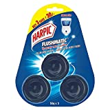 Harpic Flushmatic In-Cistern Toilet Cleaner Blocks, Aquamarine - 50 g (pack of 3) coil cleaners May, 2021