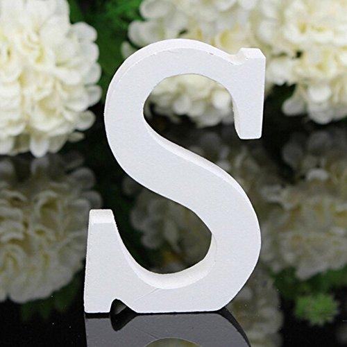 Freeas Dekorative Holz Buchstaben, hängende Wand 26 Buchstaben aus Holz Alphabet Wand Buchstaben für Kinder Baby Name Mädchen Schlafzimmer Hochzeit Geburtstag Party Home Decor-Briefe (S)