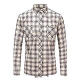 U/A Casual de los Hombres de Cuadros Camisa de Otoño Invierno Franela Camisa de los Hombres de Vestir Camisas de Manga Larga
