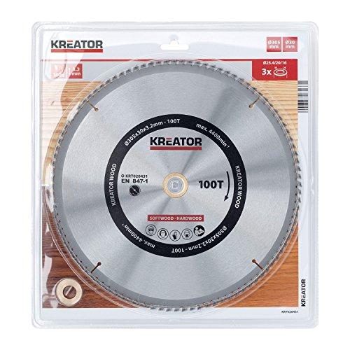 KREATOR KRT020431 KRT020431- Disco Sierra Madera 305 mm100d