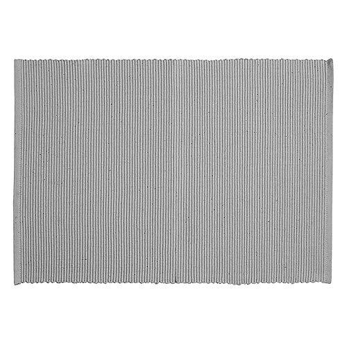 LINUM Uni Tischset, Baumwolle, Helles Granitgrau, 35 x 46 cm