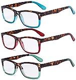 Eyekepper 3 Paia Le signore Occhiali da Lettura alla Moda Lettore Comodi Occhiali da Vista per Lettura Donna +3.50