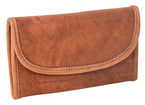 Geldbörse Portemonnaie Brieftasche Vintage Damen Braun Leder