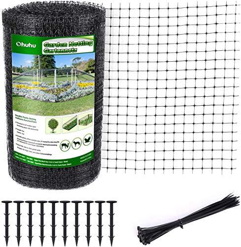 Ohuhu Malla Anti Animales 2x30 Metros. Ideal para jardín, Material Resistente y Reutilizable para Proteger Frutas, Vegetales, árboles de Plantas, del Ataque de pájaros y Otros Animales