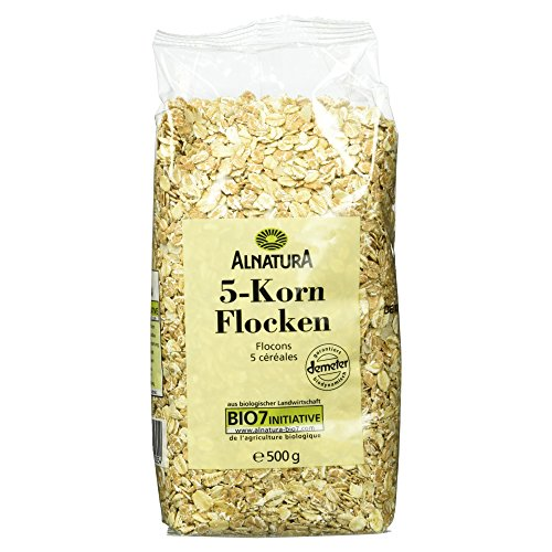 Alnatura Demeter Bio 5-Korn-Flocken, 6er Pack (6 x 500 g)