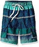 Kanu Surf Boys' Little YOLO Quick Dry UPF 50+ Beach Swim Trunk, Sandbar Blue/Green, 5/6