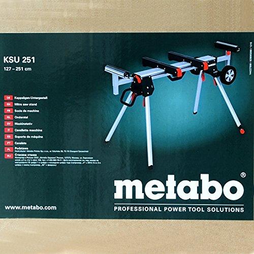 METABO 629005000Ksu251Legstand pour Scie à Onglet, 0V, Vert/Noir/Argent