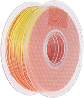 1.75mm Temperature Color Change PLA Filament Orange to Yellow 3D Printer Filament 1kg/2.2lbs Spool Dimensional Accuracy +/...