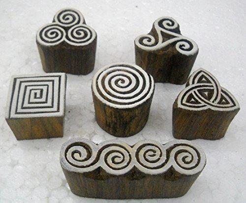 Wholesale Pack of Elegant Designs Wooden Block Stamps/Tattoo/Indian Textile Printing Blocks