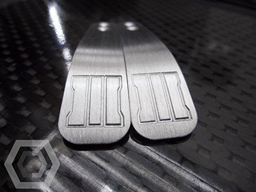 PS4 Aluminium 'BRUSHED' paddles mit BO3 Gravur + 2 flexiblen Unterlegscheiben